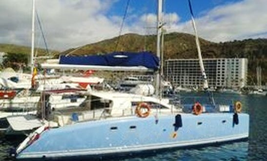 Dive Tours Aboard A 12 Person Sailing Catamaran In Tarajalillo, Canary Island