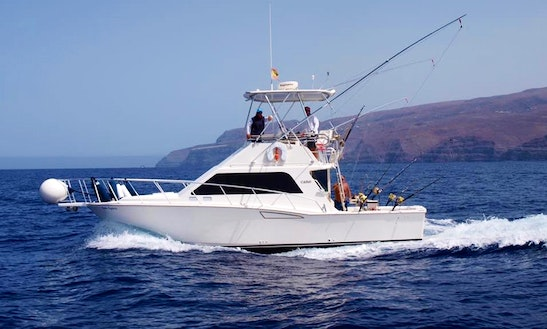 Enjoy Fishing In San Sebastián De La Gomera, Spain On 35' Cabot Sport Fisherman