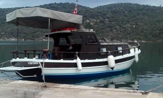 Unique Black Motor Yacht For Charter In Muğla, Turkey