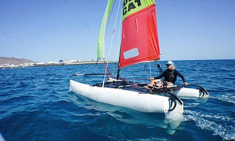 Book a 16' Hobie Catamaran in Playa Blanca, Spain for 4 person!
