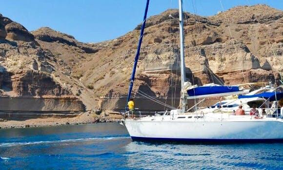Enjoy Sailing on Santorini Islands aboard 49' Atlantic Charter Boat