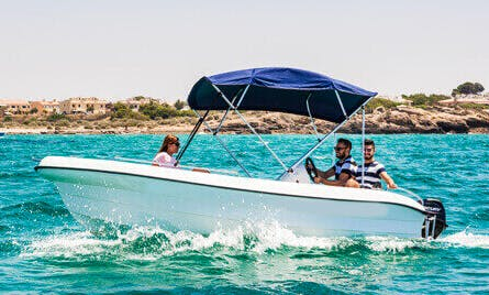 "Rent 16ft ""Albatros"" Deck Boat In Portocolom, Mallorca, Spain"