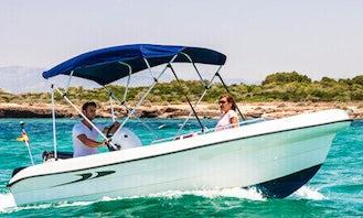 "16ft ""Perseus"" Deck Boat Rental In Portocolom, Spain"