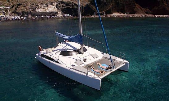 Private Cruise On Cruising Catamaran In Santorini, Greece