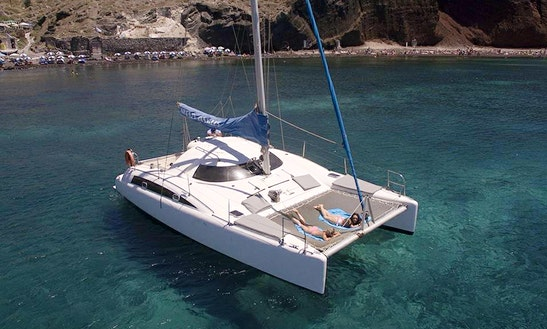 Private Cruise On Cruising Catamaran In Santorini, Greece