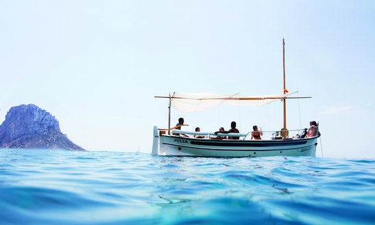Skippered Boat Tour On Llaut Menorquin Boat In Ibiza