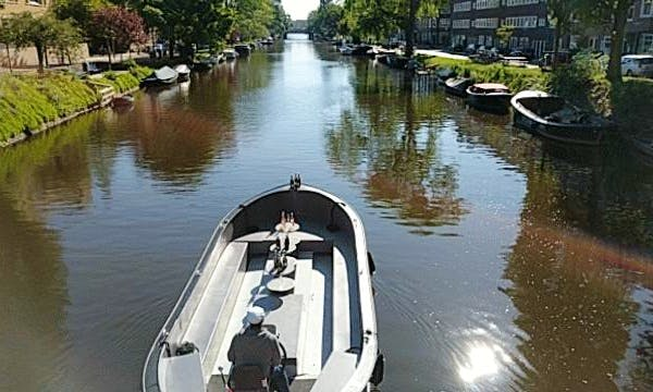 Dinghy rental in Amsterdam with captain