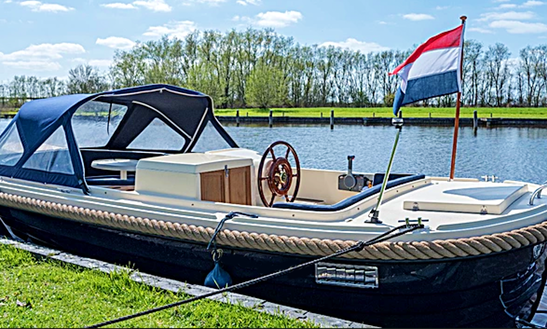 Rent 20' Oudhuijzer 620 Canal Boat In Friesland, Netherlands