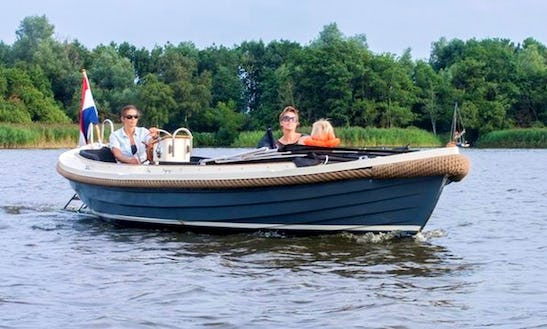 Hire 21' Canal Boat In Friesland, Netherlands