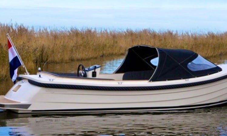 Rent 23' Ms Selene Canal Boat in Workum, Friesland