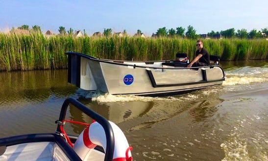 Rent 16' Workout Canal Boat In Harlingen, Friesland