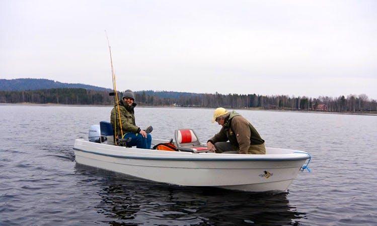 Enjoy Fishing in Västra Götalands län, Sweden on 13' Jon Boat