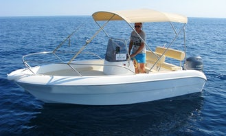 Deck Boat rental in island Ugljan