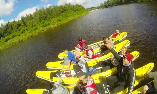 Enjoy Canoe Rentals In Augšlīgatne, Latvia