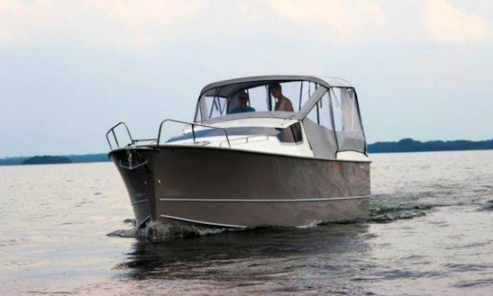 Nexus 850 Gray Motor Boat Charter In Węgorzewo