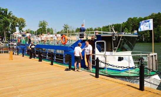 'faryja Ii' Boat Cruising In Ruciane-nida