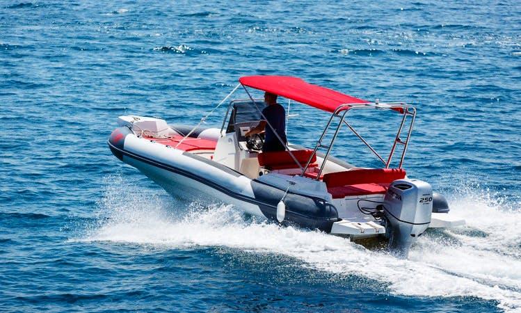 Rent Marlin Dynamic Rigid Inflatable Boat in Krk, Croatia