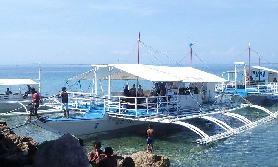 Local Traditional Boat for Rent in Cordova, Philippines!