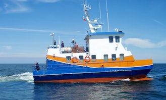 Fishing Trips in Kołobrzeg, Poland on Globetrotter Power Catamaran