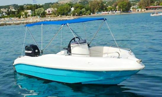 15' Nirefs 465 V Deck Boat Rental In Rodos, Greece