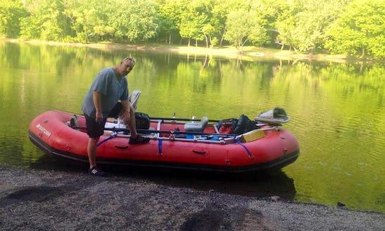 Enjoy Fishing On Raft Boat In Hinton, West Virginia