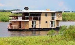 Charter 62' Delta Belle Houseboat in Shakawe, Botswana