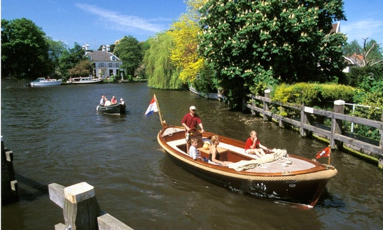 Private Tour On 22ft Semi-open Boat In The Vecht River Area, Amsterdam, Netherlands