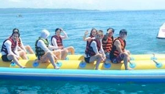 Enjoy Tubing In Boracay, Philippines