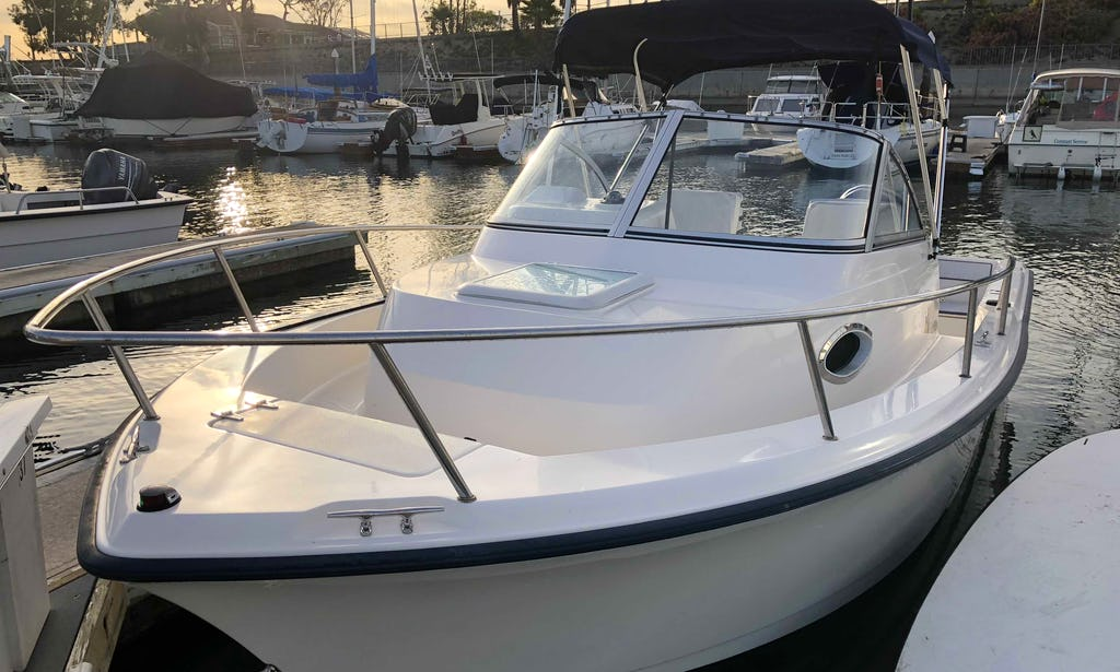 Rent A 21 Foot Walkaround Boat In Dana Point