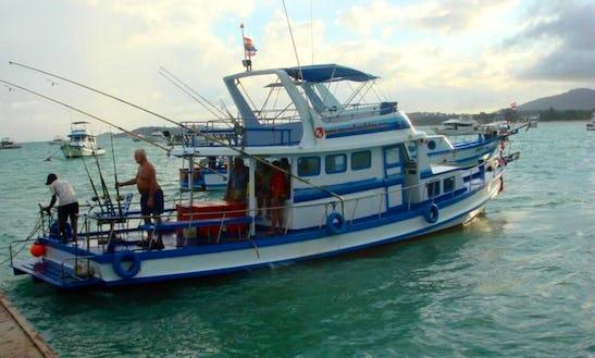 Charter Thai Fishing Cruiser P11 In T. Chalong, Phuket, Thailand.