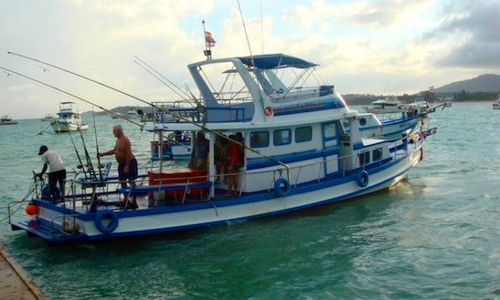 Charter Thai Fishing Cruiser P11 In T. Chalong, Phuket, Thailand.
