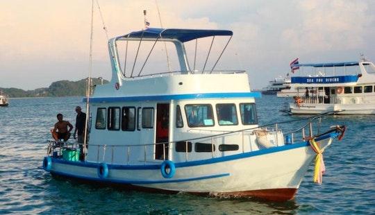 Charter This Thai Cruiser P1 , Cruising And Fishing In Phuket, Thailand