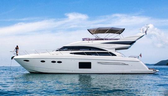 Enjoy Princess P64 Destiny Motor Yacht Charter In Phuket, Chang Wat Phuket