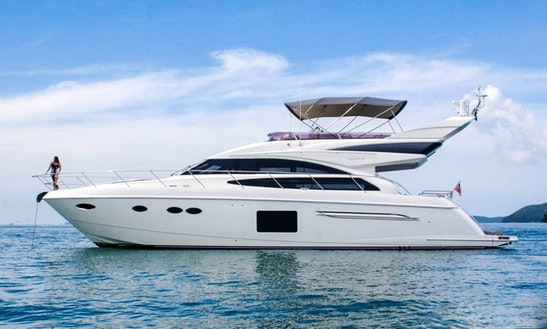 Enjoy Princess P64 Destiny Motor Yacht Charter In Phuket, Chang Wat Phuket