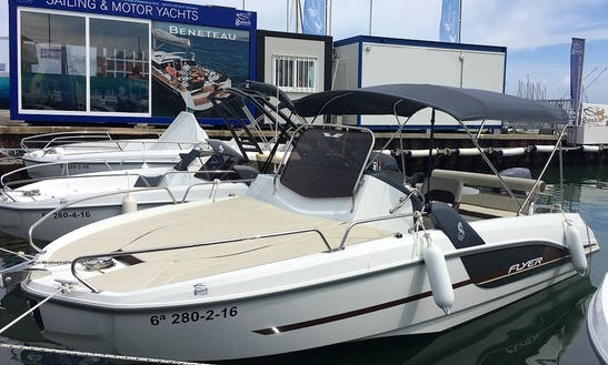 Beneteau Flyer 6.6 Sundeck Affordable Rental In Cambrils, Spain