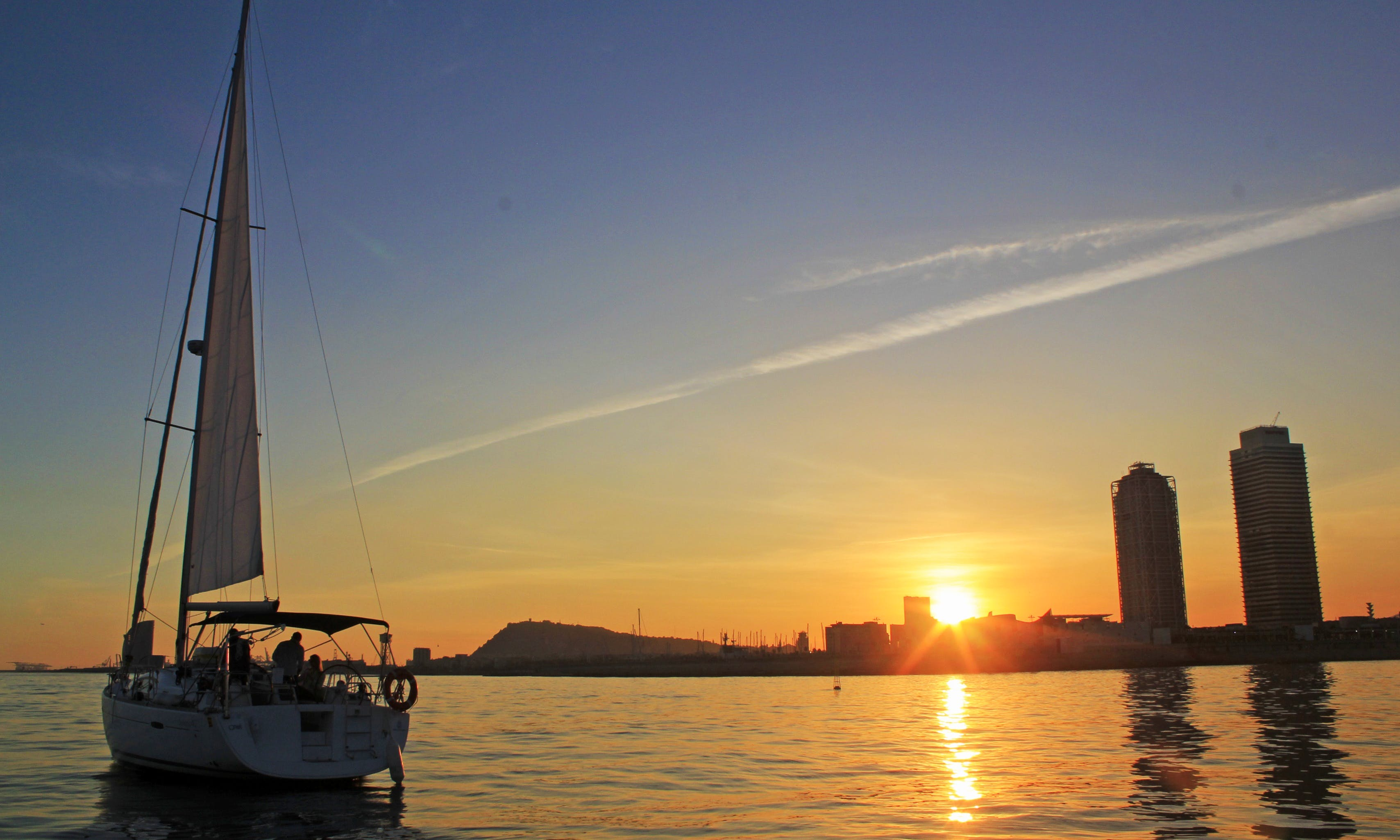 Sunset Sailing Experience at Barcelona's skyline