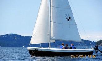 Sailing Lesson!  19' Pearson Resolute Sloop in Olga, Washington