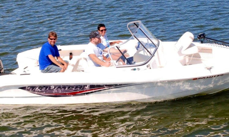 Triumph 185 W Bowrider Boat with 150hp Motor