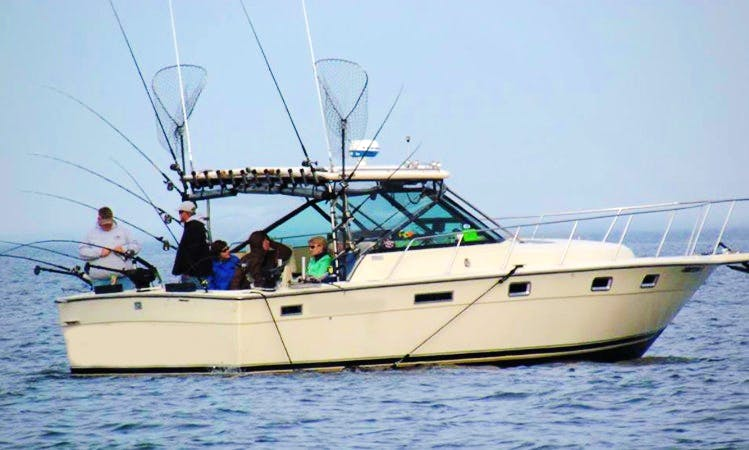 "Muskegon Fishing Charter on 31ft ""Jobsite Too"" with Captain Matt"