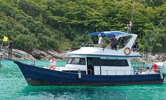 Enjoy Fishing In Phuket, Thailand On 48' Motor Yacht