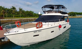 Charter 43' Motor Yacht in Cove Drive, Singapore