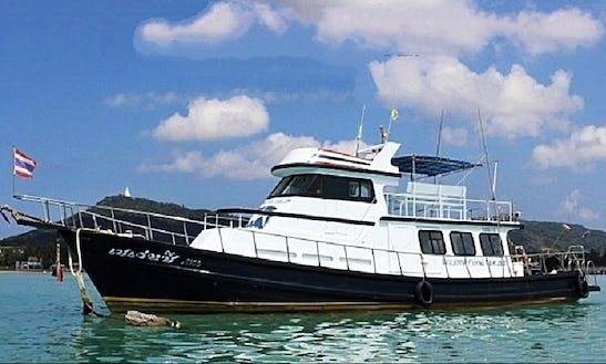 Enjoy Fishing In Phuket, Thailand On 52' Motor Yacht