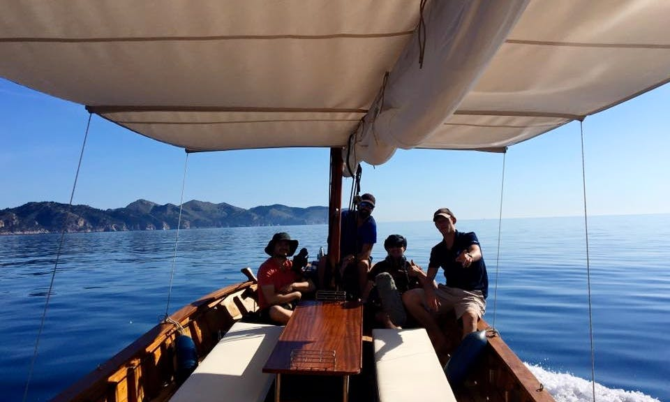 "Charter on classic wooden""Llaut"" In Alcudia, Pollensa, Formentor, Spain"
