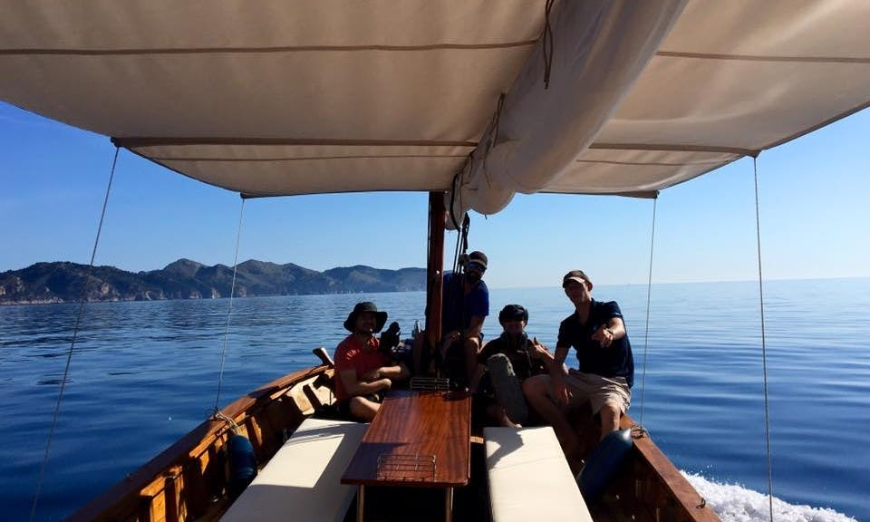 """Charter on classic wooden""""Llaut"""" In Alcudia, Pollensa, Formentor, Spain"""
