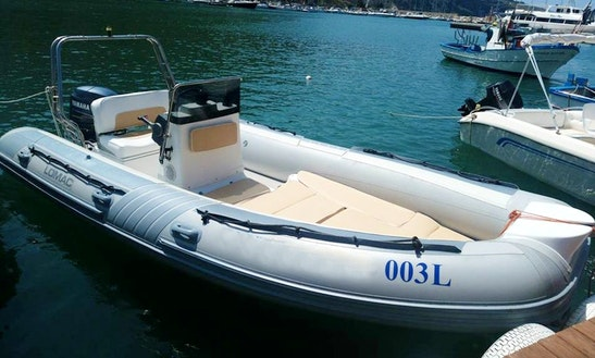 Rent 18' Lomac Rigid Inflatable Boat In Castellammare Del Golfo, Sicilia