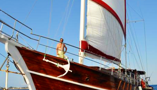 'latife Sultan' Crewed Gulet Sailing Charter From Milazzo, Italy