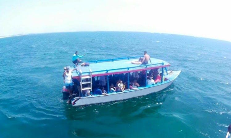 Sea Excursion in Watamu, Kenya on a Passenger Boat
