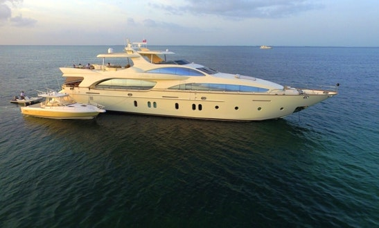 Power Mega Yacht In Bal Harbour