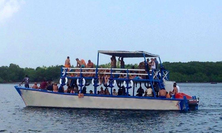Glass Bottom Boat Charter in Watamu, Kenya for up to 160 people
