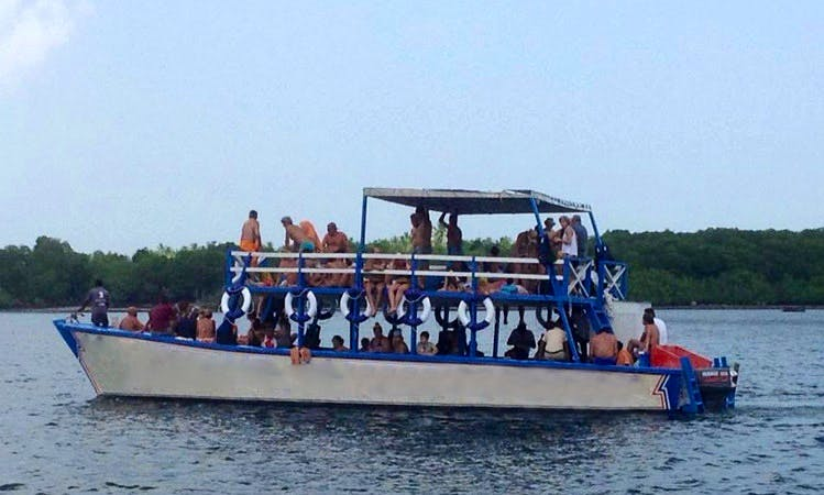 Glass Bottom Boat Charter in Watamu, Kenya for up to 160 people